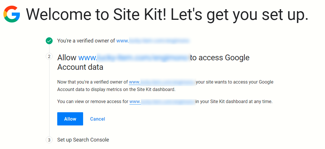 Welcome to Site Kit! Let's get you set up.