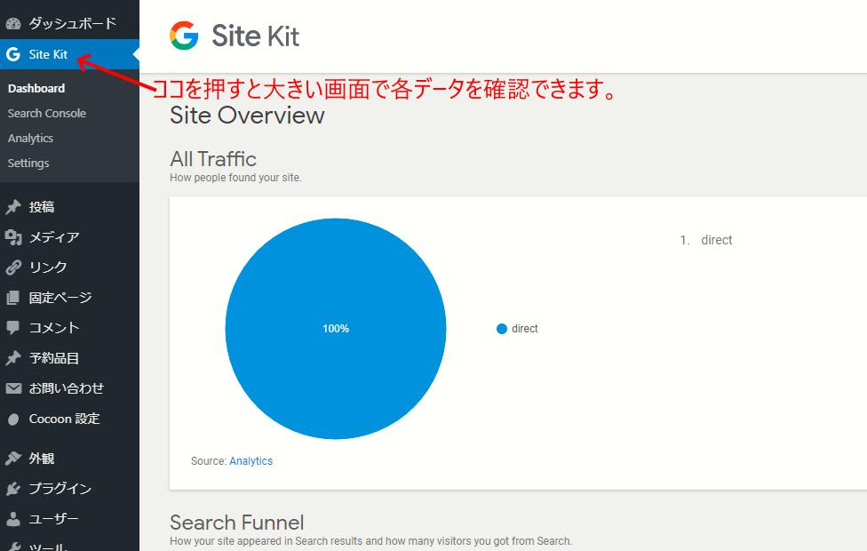 Site Kit by Googleでデータを確認する